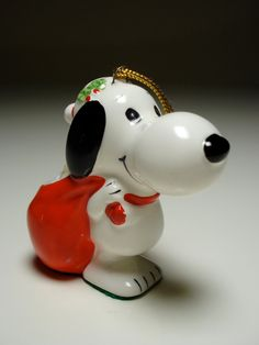 Ceramic Snoopy Christmas Ornament