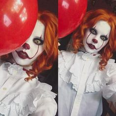 10 Hottest Halloween Costumes You'll Definitely See This Yea.- 10 Hottest Halloween Costumes You'll Definitely See This Year - Clown Costume Women, Scary Clown Costume, Gruseliger Clown, Creepy Clown, It Costume, Pennywise Halloween Costume, Scary Halloween Costumes, Fall Halloween, Halloween Decorations
