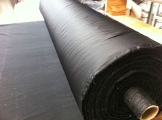 black 60  wide velcro receptive upholstery cushion lining / platform cloth.