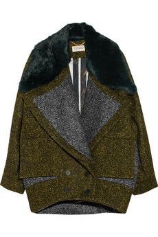 KENZO - Wool-Blend Coat | http://www.oliviapalermo.com/how-to-rock-the-coat/