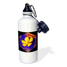 3dRose DYLAN SEIBOLD - PHOTO ABSTRACTION - BUTTERCUP ART CUBE - 21 oz Sports #Water Bottle #gifts  Link: