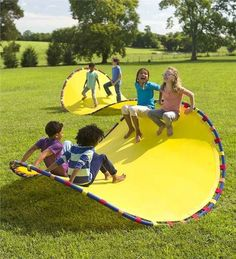 Ridiculously Cool Toys That Kids And Adults Will Enjoy An insanely cool chair-rocker-hammock that looks like a huge Pringle chip.An insanely cool chair-rocker-hammock that looks like a huge Pringle chip. Baby Print, Amusement Enfants, Unique Toys, Ideias Diy, Outdoor Games, Outdoor Ideas, Backyard Games, Outdoor Workouts, Cool Chairs