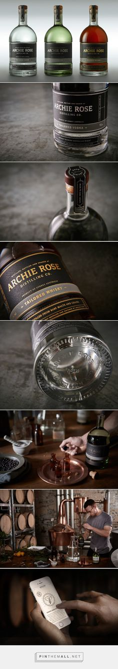 Archie Rose Tailored Spirits Packaging designed by Squad Ink, Design Studio - http://www.packagingoftheworld.com/2015/11/archie-rose-tailored-spirits.html