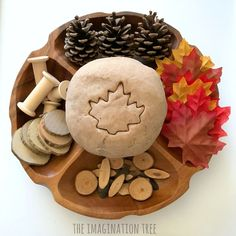 Maple Syrup Play Dough Recipe - The Imagination Tree Easter Gifts For Kids, Diy Crafts For Kids, Chocolate Play Dough Recipe, Play Doh Kits, Autumn Activities For Kids, Preschool Ideas, Autumn Crafts, Do It Yourself Crafts, Sensory Play