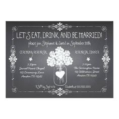 (Chalkboard Wedding Rehearsal Mason Jar Invitation) #BeMarried #BlackAndWhite #Chalk #Chalkboard #Chic #Dinner #Drink #DrinkAndBeMarried #Eat #Gray #HandWritten #MasonJar #Modern #Popular #Rehearsal #Simple #Trendy #Typography #Vintage #Wedding is available on Custom Unique Wedding Invitations  store  http://ift.tt/2aujGJz #weddinginvitation #weddinginvitations