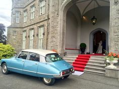 This wedding car has just delivered a very happy couple on their wedding day