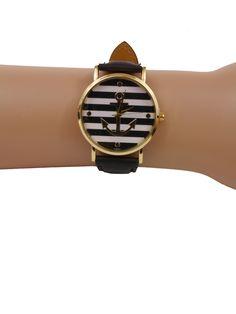 Uhr mit Anker, maritimer Look.