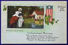 USA - PATRIOTIC, WASHINGTON AND HIS MOTHER