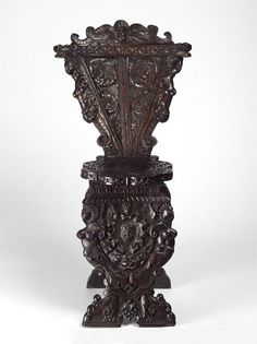Sgabello chair, c.1550-1600, probably Venetian, carved Walnut