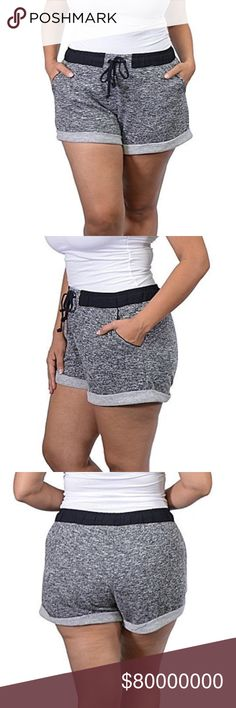 🆕 (Medium & Large) Athletic or Lounge Shorts Perfect as both workout and lounge shorts. Hand wash. Stretchy waist.  *Color: Black and Gray  *Condition: New  *Material: self- 58% cotton 42% polyester contrast- 100% rayon  Medium: *Waist Size: 26 inches *Length: 10 1/2 inches long *Inseam: under 2 1/2 inches long  Large:  *Waist size: 28 inches *Length: 10 1/2 inches long  *Inseam: under 2 1/2 inches long   ♥ Smoke free home.  ♥ I have pets. I always make sure my clothing is fur free, but…