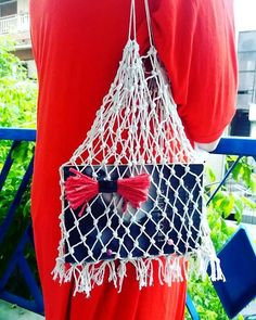 string mesh bag, net bag for books, grocery cotton string bag, market net bag, vintage shopping bag, inner tube handles Best Bow, Net Bag, String Bag, Book Lovers Gifts, Diy Home Crafts, Bow Ties, Mother Gifts, Fashion Styles, Biodegradable Products