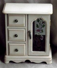 Vintage Jewelry Box Upcycled Shabby Chic by JuneBugCottage on Etsy, $32.00