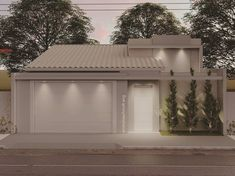 Small House, House Designs Exterior, Modern House Design, House Front Design, My Home, Exterior Design, Entrance Gates Design, House Front, Minimalist Home