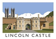 Inspired by mid century travel posters, this superb hand-drawn digital art print of Lincoln Castle by Richard O'Neill makes a great gift and is perfect for framing. All prints are individually signed by the artist. Lincoln Castle, Lincoln Uk, Vintage Travel Posters, Poster Vintage, Tourism Poster, Travel And Tourism, Buy Prints, Places To Travel, Art Print