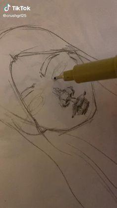 Art Drawings Sketches Simple, Pencil Art Drawings, Cool Drawings, Cartoon Art Styles, Art Sketchbook, Aesthetic Art, Doodle Art, Art Tutorials, Cute Art