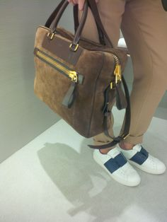 casual chic: Tom Ford bag + Valentino sneaker