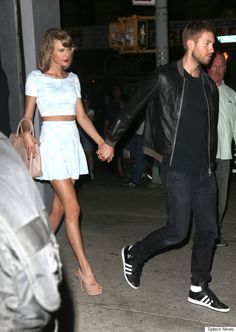 Taylor Swift and Calvin Harris hold hands during date night out in NYC