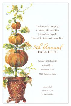 Pumpkin Trio Invitation from Odd Balls