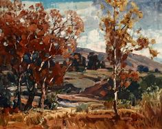 Hanson Puthuff - Autumn, oil on masonite