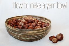 DIY yarn bowl! simple, easy to make, and great way to use up my yarn scraps! by toni