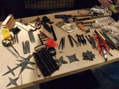Just some zombie tools I'm working on in my garage. #ZombieHunter