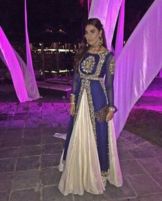 Sangeet night on the Sands on mauritus in my this stunning outfit by and jewels by Desi Wedding Dresses, Pakistani Wedding Outfits, Pakistani Bridal, Bridal Outfits, Pakistani Dresses, Indian Dresses, Indian Outfits, Bridal Dresses, Indian Anarkali