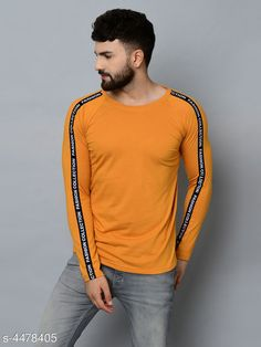 Tshirts Designer Men T-Shirts Fabric: 100 % Cotton Sleeve Length: Long Sleeves Pattern: Solid Multipack: 1 Sizes: S (Chest Size: 36 in Length Size: 27 in)  XL (Chest Size: 42 in Length Size: 30 in)  L (Chest Size: 40 in Length Size: 29 in)  M (Chest Size: 38 in Length Size: 28 in) Country of Origin: India Sizes Available: S, M, L, XL   Catalog Rating: ★4 (439)  Catalog Name: Fashionable Men Tshirts CatalogID_646387 C70-SC1205 Code: 992-4478405-576