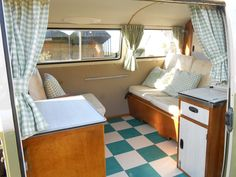 inside VW Type 2 Devon Bay Window Campervan