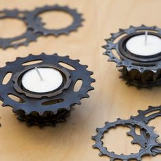 Bicycle Freewheel Tealight Holders