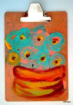 Flowers in a Vase Art  by miabo enyadike  www.artmiabo.com