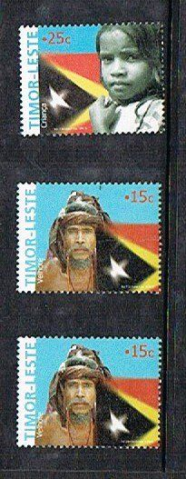 Timor-Leste Stamps. East Timor (officially the Democratic Republic of Timor-Leste) is a state in Southeast Asia. It comprises the eastern half of the island of Timor, the nearby islands of Atauro and Jaco, and Oecusse, an exclave on the northwestern side of the island, within Indonesian West Timor.