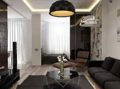 Gray apartment interior design