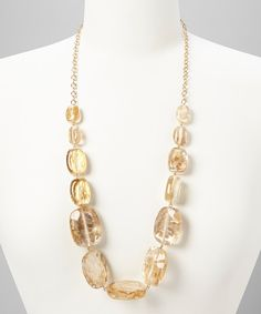 Take a look at this Majestic Gold Fleck Necklace on zulily today!
