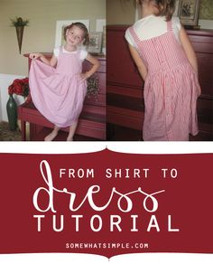 How to make a child's dress out of a men's shirt
