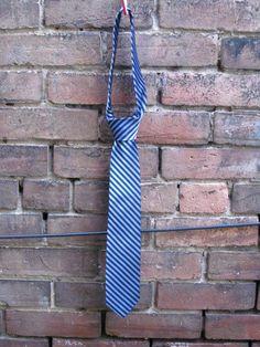 Navy Blue Striped Tie by HighboyMenswear on Etsy
