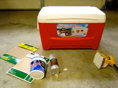 Step by Step Incredibly Detailed Instructions for Painting a Scratch-Proof, Personalized Cooler | Life in Pines. So college.