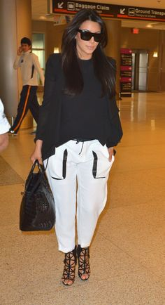 Found this kim k loose pants style! comfort and sexy!