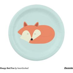 Sleepy Red Fox 7 Inch Paper Plate ($1.92) ? liked on Polyvore featuring home  sc 1 st  Pinterest & Woodland Fox Paper Plate | Foxes Paper and Plates