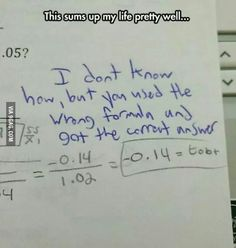 I did this all the time in math class. I intuited the answer but still got an F because I didn't do the proof correctly. #infjproblems #INFJ