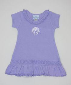 Lavender Initial Swing Dress - Infant, Toddler & Girls