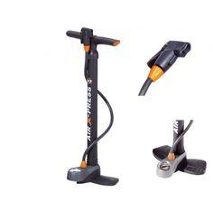 SKS Floor Pump Air X-Press Control with gauge Bicycle Tires, Bike, Gauges, Outdoor Power Equipment, Pumps, Flooring, Wood, Bicycle, Woodwind Instrument