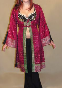 Ghawazee Brocade Coat- make this in blue and gold for Ember
