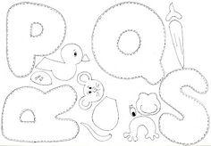 Moldes alfabeto ilustrado em EVA | Pra Gente Miúda