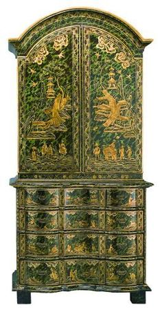 A beautiful piece of furniture; not quite my style but yet beautiful.  qb Chinoiserie - Bureau Bookcase by Ann Getty House