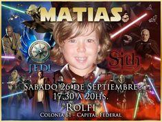 Invitación para el cumple de Matías