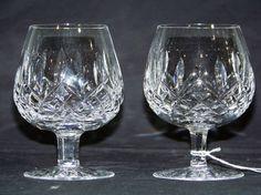 Pair Waterford Crystal Brandy Glasses