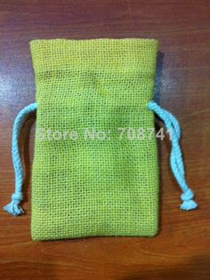 "SIZE:10X15cm(4""x6""),Green Color jute burlap drawstring bag with cotton drawstring , Custom logo,size and bag design acceptable $89.00"