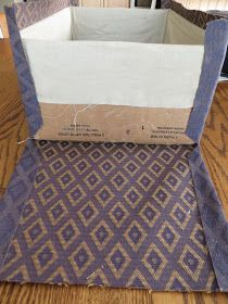 How To Cover A Box in Fabric - inside and out! You could also cover the inside in fabric and the outside in twine to make it look like a wicker basket!