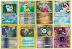 Pokemon lot of 8 cards WITH RARES ALL PICTURED Not Perfect with Blastoise