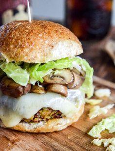 Crispy Autumn Veggie Burgers with Apple Cider Slaw
